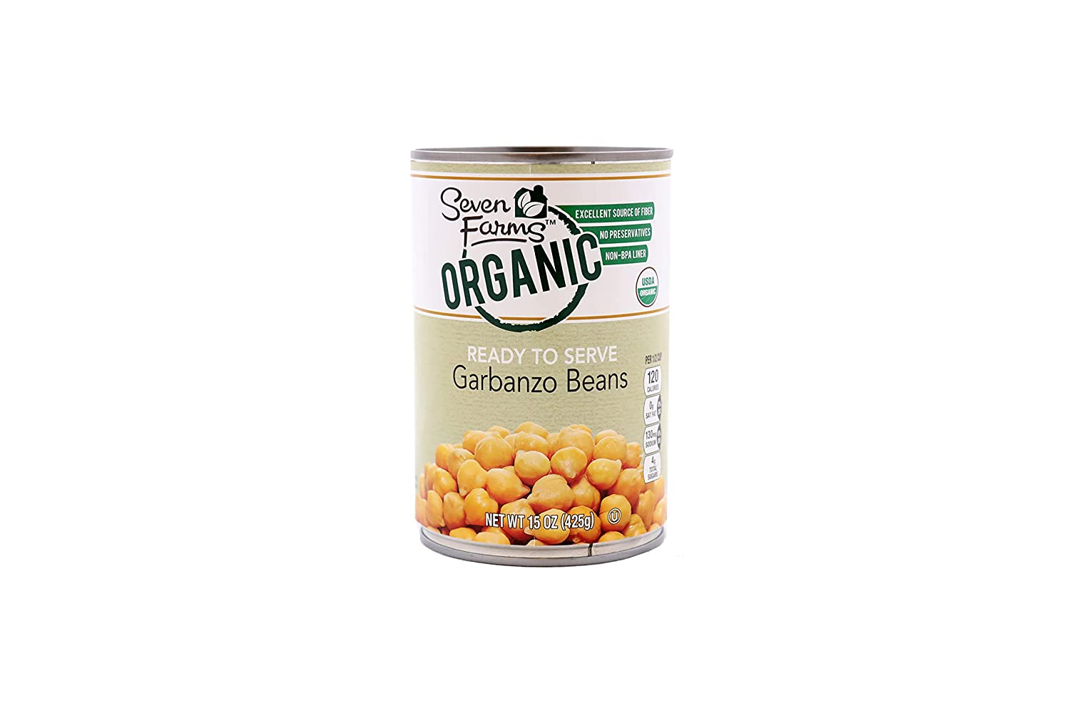 Seven Farms Cheap All stores are sold SALE Start Organic Garbanzo Beans Veg Chickpeas Bulk Canned -