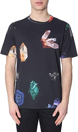 Paul Smith Homme M1R697PAP104079 Noir Coton T-Shirt