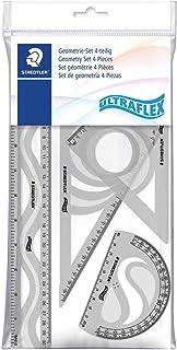 Staedtler 569 - Polybag 1 Set De Géométrie Flexible Et Incassable (Règle 30 Cm, Rapporteur 10 Cm, Équerres 60/30 & 45/45) ...