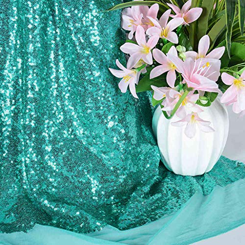 Sequin Fabric by The Yard Sparkly Fabric Green Fabric for Sewing Sequence Material Fabric Little Mermaid Fabric Sequin Fabric Quilting Fabric Flip Sequin Fabric for Wedding Dress (1 Yard, Green)