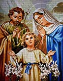 Kits de punto de cruz Set de bordado de tapicer¨ªa Conjunto de bordado de punto de cruz de la Sagrada Familia de Dios.