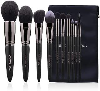 Eigshow Makeup Brushes, Black Luxury Series Professional Premium Synthetic Cosmetic Brushes Set Kit for Blending Foundation Powder Blush Concealer Highlighter Eyeshadows Brush(10 Pcs)