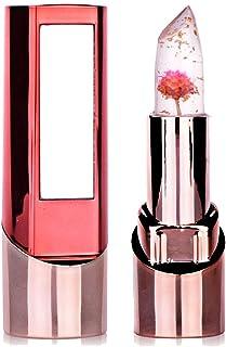 Jelly Lipstick richoose larga duración de cambio de color hydrater brillante flor exceso brillante de labios cosmética profesional con un beau espejo para la moda de las mujeres