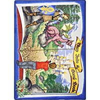 Joy Carpets Kid Essentials Language & Literacy Step Into A Good Book Rug, Multicolored, 5'4 x 7'8 by Joy Carpets
