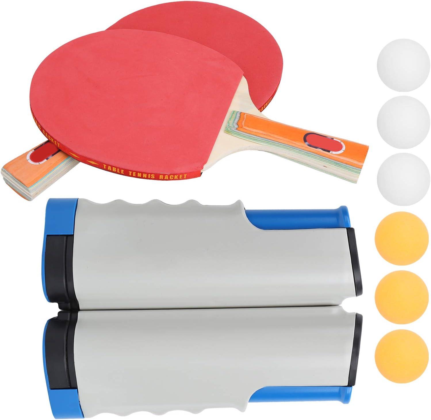 KASD Juego de Tenis de Mesa, no se deslizará Fácil de Instalar Construir Músculo Herramienta de Entrenamiento de Tenis de Mesa Material ABS para Juegos recreativos