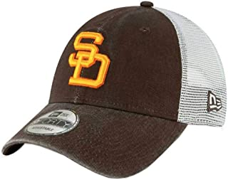 New Era 2019 MLB San Diego Padres Baseball Cap Hat 1980 Cooperstown Truck Mesh Brown/White