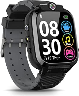 Sponsored Ad - Kids Smart Watch for Boys Girls, Game Smartwatch with Memory Card Double Camera Video Recording Music Playe...