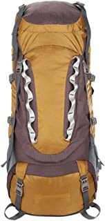 ZCbb Backpack 80l Hiking Backpack Waterproof Lightweight for Women Men with Waterproof Rain Cover, Internal Frame Backpacking Backpack for Hikers Camping (Color : Gold)