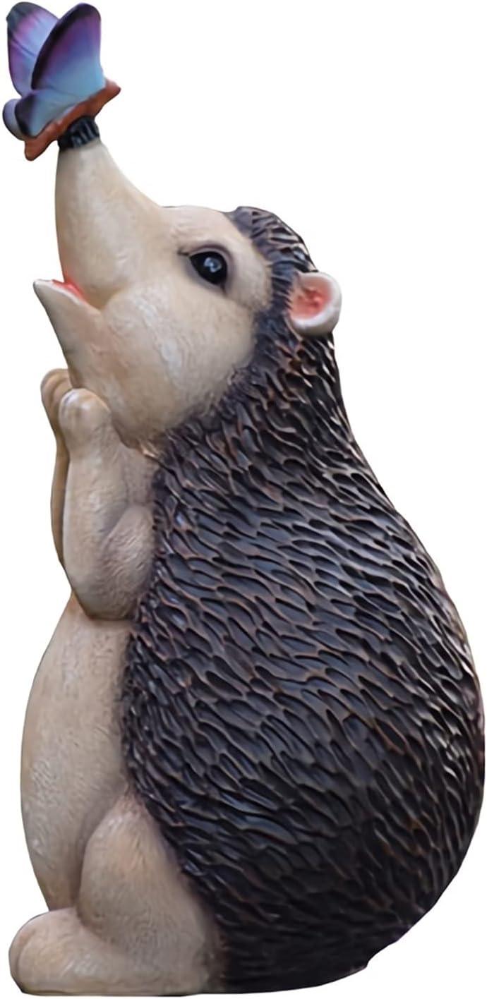 ZHXQ Garden Super sale period limited Sculpture Large Hedgehog Statue Resin Cute S Surprise price