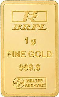 Bangalore Refinery 24k (999.9) 1 gm Yellow Gold Bar