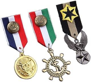 Women Men's Navy Badge Military Hero Medals Blazer Suit Brooch Pin 3pcs / Set