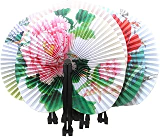NUOBESTY Vintage Handfächer Mini Papier Oriental Folding Fans - 6 Stück
