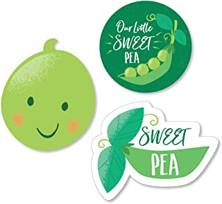 Big Dot of Happiness Sweet Pea in a Pod - DIY Shaped Baby Shower or First Birthday Party Cut-Outs - 24 Count