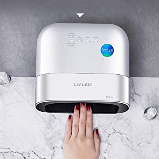 SUN3 Painless Nail Dryer UV LED Nail Lamp Manicure 58W Ice Lamp All for Nails Drying Machine LCD Display UV Gel Dry Nail Art,White