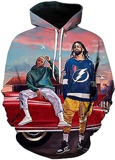 Yd-zx Couple Hoodie Sweater 3D Digital Printing Pullover Hooded Sweatshirt Athletic Casual Long Sleeve