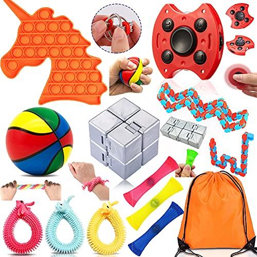 Yetech Juguete Antiestrés Sensorial de Explotar Burbujas,15pcs Juguetes Sensoriales Kit ,Silicona Sensorial Juguete Herramientas para aliviar el estrés y la ansiedad para niños y Adultos