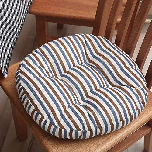 XHNXHN Stolsdynor sittkuddar bekväm kudde en uppsättning av 2 moderna Tatami pruttbord rund pall avtagbar och tvättbar brun blå diameter 50 cm för kök matsal trädgård kontor stol kudde se