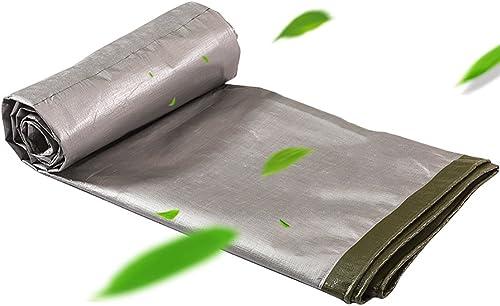 DLDL La Grande bache résistante Double Face imperméable à la Feuille de Sol Recouvre Le Tissu de Hangar épissure de Tente de Coupe-Vent de Toit Anti-Pluie pour la pêche de Camion Pique-Nique Mat-Vert