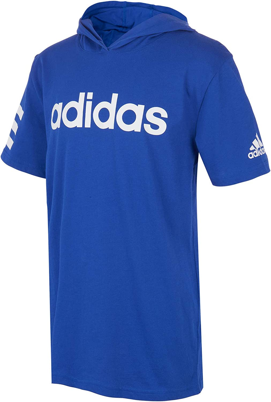 adidas Boys' Big Short Sleeve Hooded T-Shirt: Clothing, Shoes & Jewelry
