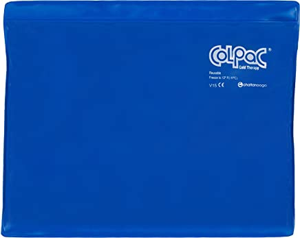 """Chattanooga ColPac Reusable Gel Ice Pack Cold Therapy for Knee, Arm, Elbow, Shoulder, Back for Aches, Swelling, Bruises, Sprains, Inflammation (11""""x14"""") - Blue"""