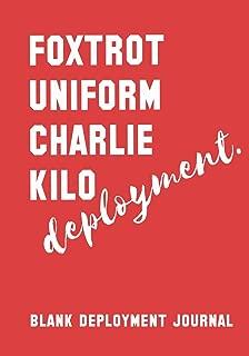 Foxtrot Uniform Charlie Kilo Deployment: Blank Deployment Journal: F**k Deployment Blank Journal Diary Notebook, Deployment Journal for Spouses, ... Return Gift, Deployment Homecoming Gift