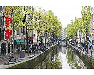 robertharding 10x8 Print of Canal in The Red Light District, Amsterdam, Netherlands, Europe (13758952)