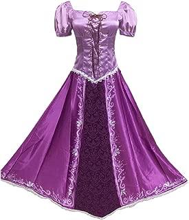 Halloween Costumes Tangled Rapunzel Cosplay Dresses Princess Lepe Purple Dress