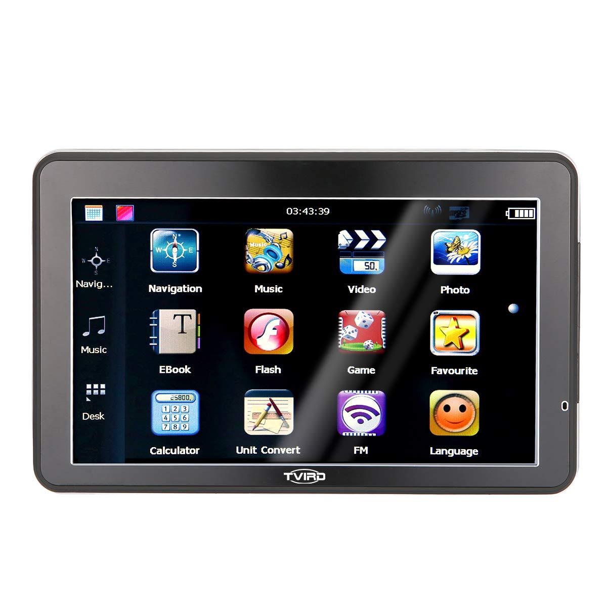 Navegador Sat Nav, Tvird 5 Pulgadas 8 GB Pantalla táctil GPS navegación para Coche con actualizaciones de mapas de por Vida: Amazon.es: Coche y moto