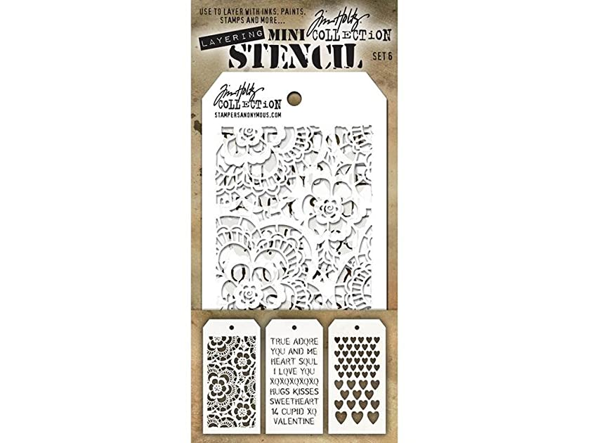Stampers Anonymous StampersA Layering Stencil THoltz Mini #6