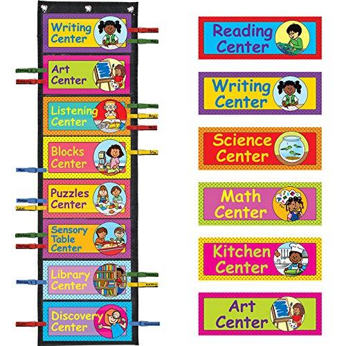 EZ-Tuck Clip 'N' Track Pocket Chart with Center Labels - Pre-K