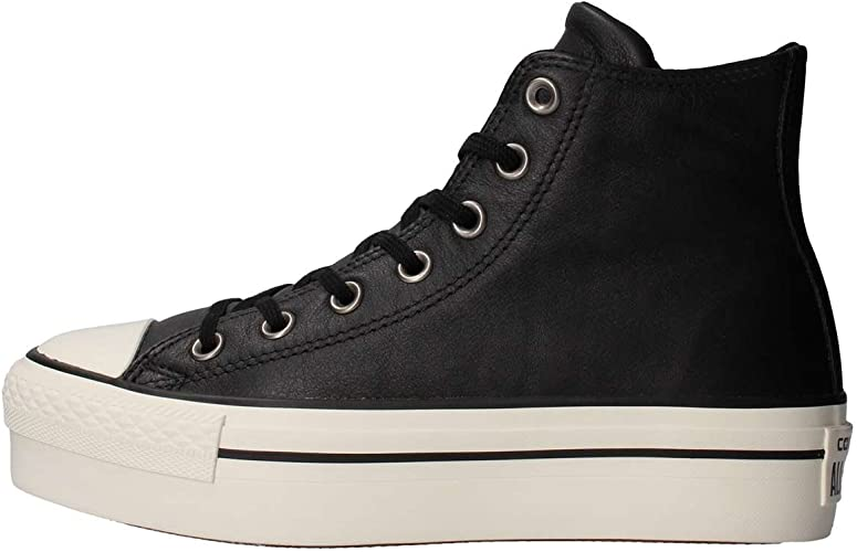 Converse Ctas Hi Platform Leather, Sneaker a Collo Alto Donna