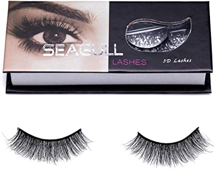 77d8fdeb013 Hand-made False Eyelashes Mink Lashes–Seagull 1 Pair Of Shiny 3D Fluffy Fake