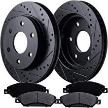 AUTO Truck & Tow Front Brake Kit with 55054 Drilled/Slotted Disc Brake Rotors and D1092 Ceramic Brake Pads