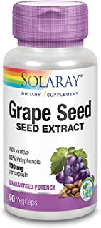 Solaray Grape Seed Extract 100 mg Plus Bioflavonoid Complex | Healthy Cardiovascular & Blood Vessel Support | 60 VegCaps