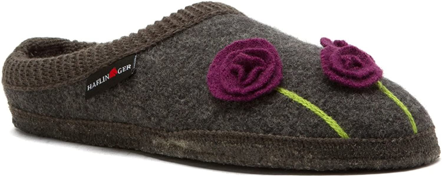 Haflinger Women's Wool Poppy Clog Slippers