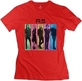 Women's T Shirt R5 Louder Members White XXXX-L