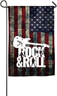 YANMEI Single Sided Print Garden Flag, Vinilo Rock and Roll-1 Decorative House Yard Flags Banner...