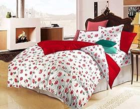 "AVI Floral Print Single Size Comforter/ Duvet - 60""x90""- Red"