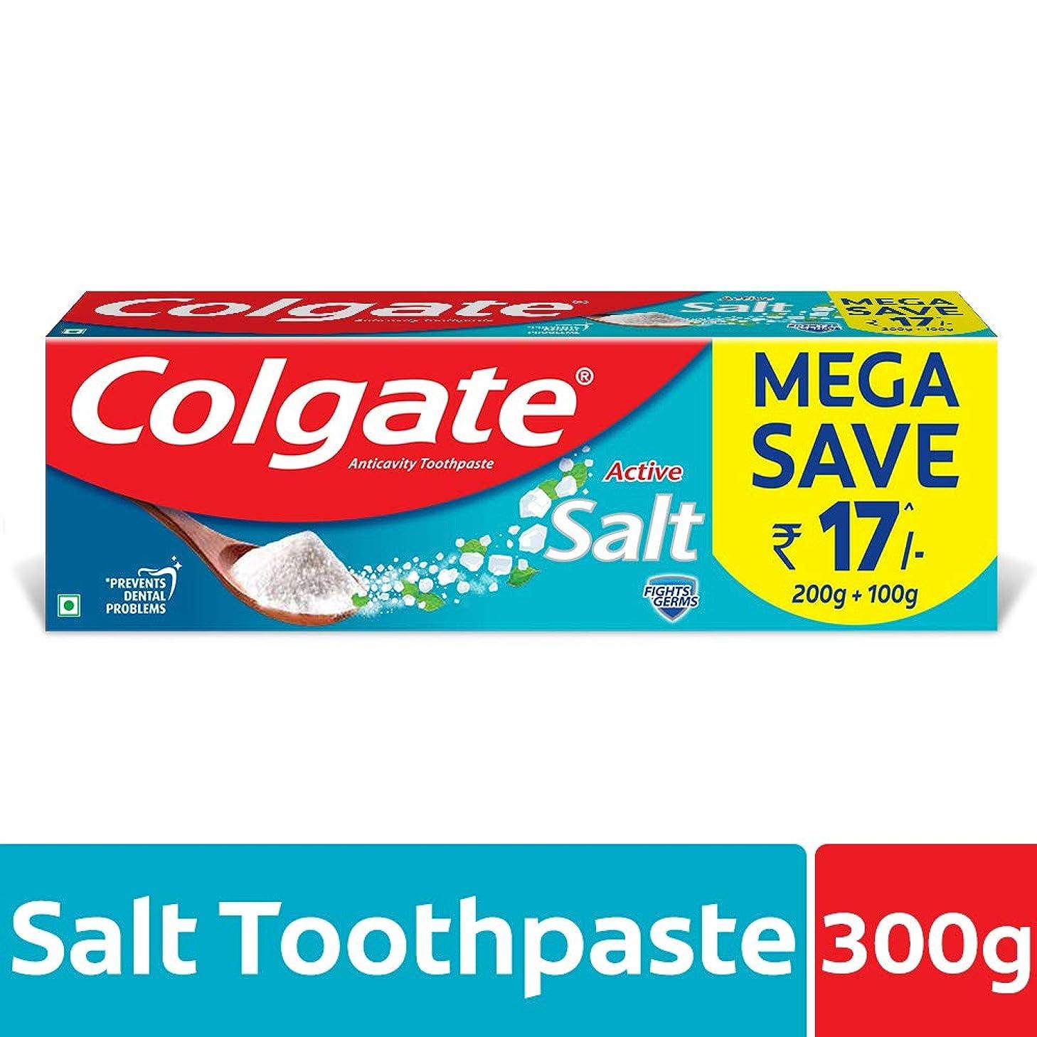 吐くかかわらず酔ったColgate Active Salt Toothpaste, 300gm(200gm + 100gm)