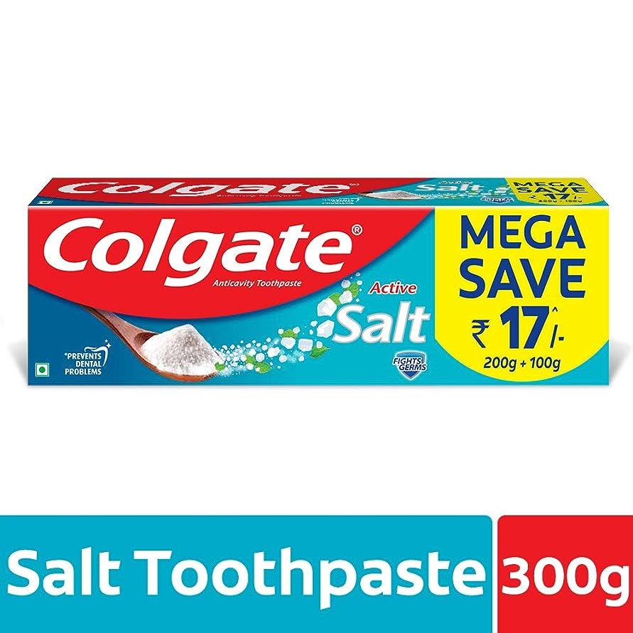 繁栄するドットジュラシックパークColgate Active Salt Toothpaste, 300gm(200gm + 100gm)