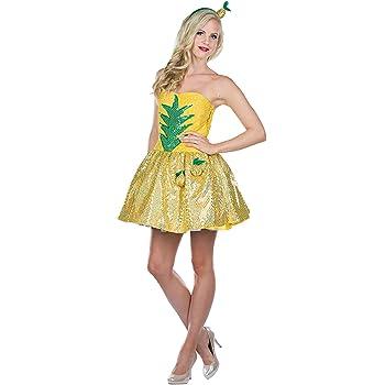Rubies Disfraz De Piña Vestido De Mujer Fruta Amarilla Fruitcake ...