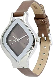 Fastrack Women's Brown Dial Leather Band Watch - T6109SL02
