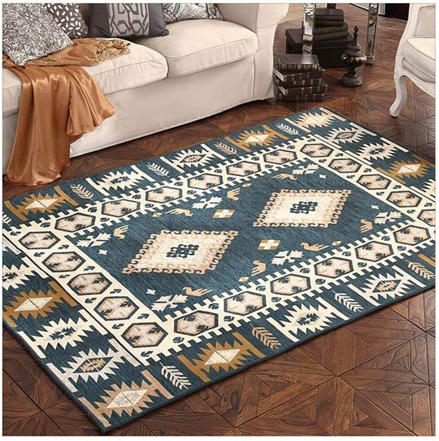 LPD Rugs Coffee Table Bedside Bedroom Carpet American Rustic Living Room (Size   76  150cm)
