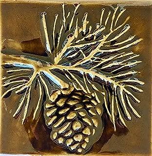 Pine cone 4 Inch Ceramic Tile