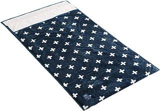 シービージャパン 毛布 柄付ネイビー 筒状の毛布 ポケット みたいな モケット tutum