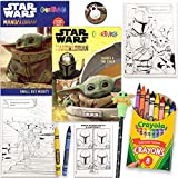 Star Wars Mandalorian 80 Page Coloring And Activity Books With Colorful Crayons, The Child Topper Pen and Pin, By Another Dream