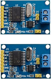 2 Pcs MCP2515 CAN Bus Module TJA1050 Receiver SPI for Arduino 51 MCU ARM Controller Development Board