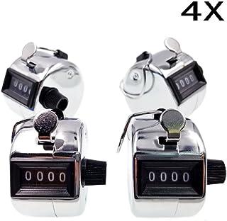 JZK 4 x Plata Contador Manual Click 4 digitos clickeador