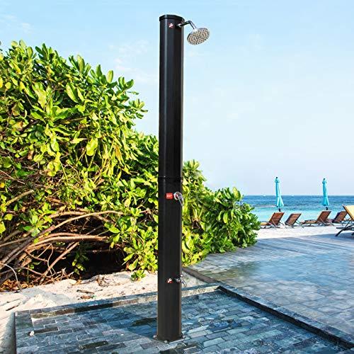 CCLIFE Solardusche 35L Solar Gartendusche Pooldusche Regendusche Außendusche Pooldusche Garten Brause warmes Wasser