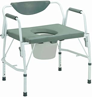 11135-1 - Bariatric Drop Arm Bedside Commode Chair
